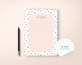 To-Do List / Things No. 1 / Notepad, to do, Calender, Weekly Planner