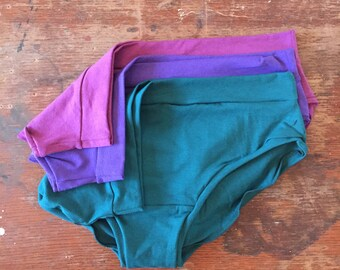 Jewel set / BASIC BRIEF / 3 pack / bamboo jersey panties / eco underwear / knickers / undies / made to order / by replicca / size S to XL