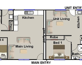 171 m2 | 4 Bed dual key designs| Dual key Design narrow| Dual key blueprint | Narrow Lot Dual key plan | Australian Dual Key design |DUALKEY