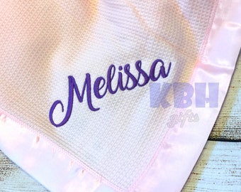 Embroidered Baby Thermal Blanket