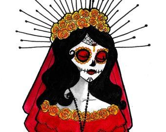 La Catrina Day of the Dead Sugar Skull