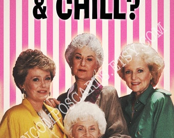 Golden Girls Card, Blank, Valentine, Galentines Day, Birthday, Thinking of You