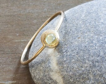 14k gold Peridot Ring, August birthstone, Stacking ring, Solitaire ring in Gold, Natural Gemstone ring, Dainty ring, Gift for Her