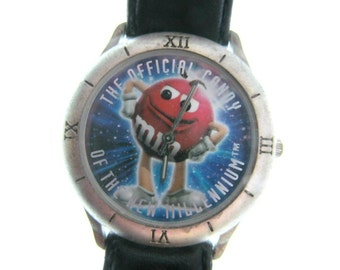 M&M - M M wrist watch - M M collectible - Red  M M candy -  M M advertising - Art and collectibles -   # 39