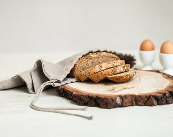 Organic Bread bag - Linen bread bag - Drawstring bag - Lingerie travel bag - Linen product bag - bread keeper - Storage bag - Laundry bag