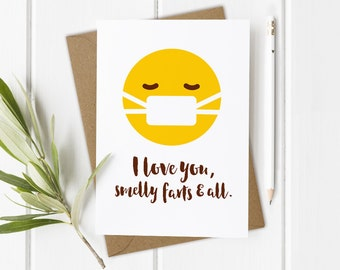 Funny Love Card Boyfriend, Funny Love Card Him, Funny Anniversary Card, Funny Farting Gift, Funny Love Card Girlfriend, Funny Birthday Card