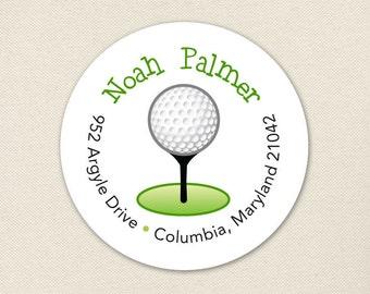 Golf Address Labels - Sheet of 24