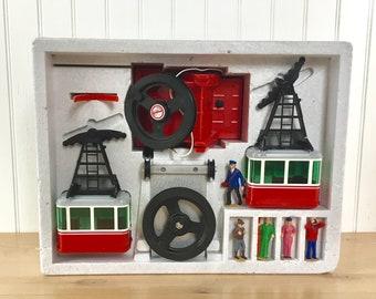 Vintage New in Box, Lehmann, LGB, Cable Car, Ski, Gondola, Train Set, Made in Germany, G Scale, Model Railroad, Ski Chalet Decor, Man Cave