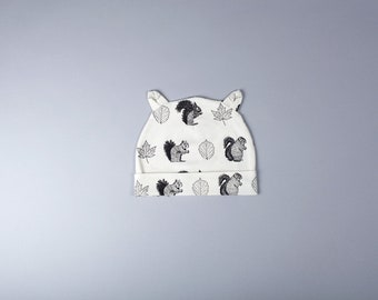 Hat Liko Jersey Cotton spandex - squirrel print