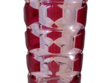 """Triangular """"Art déco"""" glass vase"""