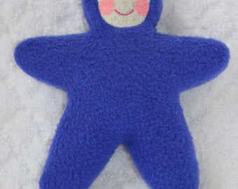 Handmade Blue Star Baby with light face Stuffed Plush Doll Softie