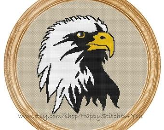 Cross Stitch Pattern PDF american eagle DD0168
