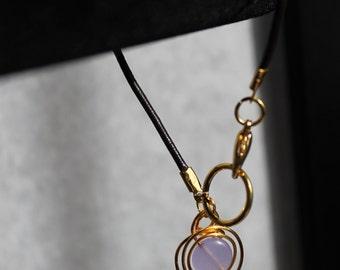 Lilac Tanzanite Leather Curl Bracelet