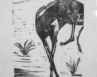 BirdsforBirds Greyhound in Spain #4 Art Block Print Greyhound