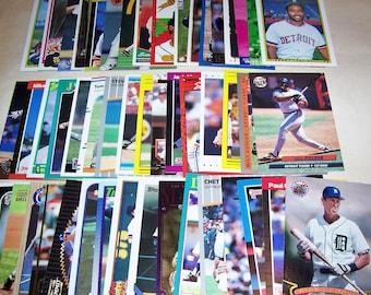 50 Assorted Vintage Detroit Tiger Cards