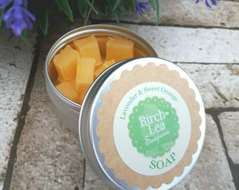 Soap travel tin, travel soap, guest soap, soap tin, natural handmade soap, choose the scent