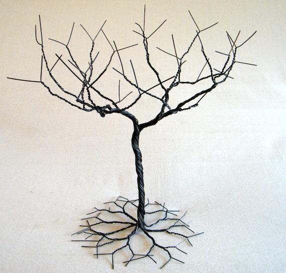 Black Jewelry tree Stand Jewelry holder organizer tall for