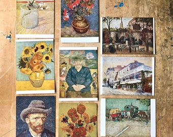 Vincent Van Gogh Postcards, Antique Postcards, Vintage Postcards, Dutch Art, Post Impressionist, Ephemera, Van Gogh Sunflowers, Fine Art