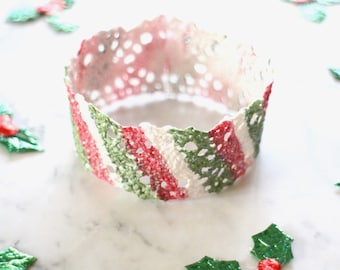 ON SALE* Candy stripe / Bunny Crown / Xmas lace crown for rabbits and small pets