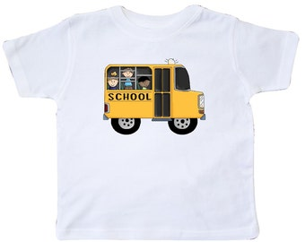 School Bus Toddler T-Shirt by Inktastic