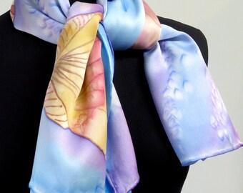 Collection balnéaire - Poncho Charmeuse de soie peint main