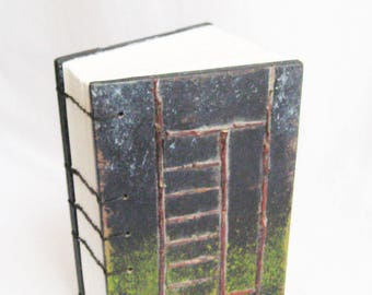 Small Journal, Record Book, Travel Book, Twig Art Book, Book and Case, Handstitch Coptic, Unlined pages, Naturalist, Artist Book, OOAK Book