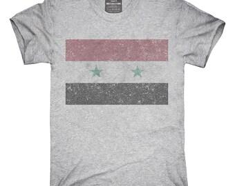 Retro Vintage Syria Flag T-Shirt, Hoodie, Tank Top, Gifts