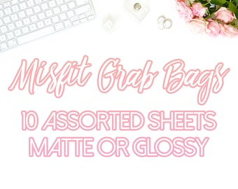 Misfit Grab Bags (10 Sheets)    Oops stickers for use with the Erin Condren Life Planner