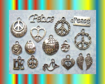 World Peace Charm Collection in Silver Tone - C2573