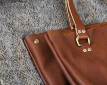 Structured Tote Bag, Leather Tote Bag, Leather Bag, Tote Bag