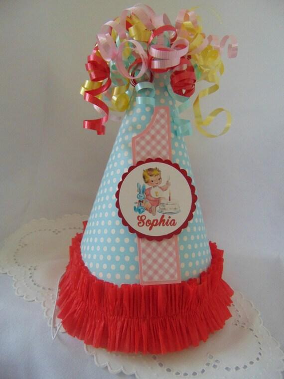 Vintage birthday party hatVintage 1st Birthday Boy vintage
