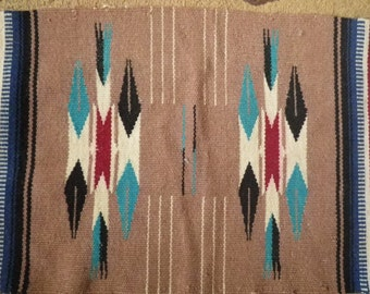 Native American Indian Navajo Weaving 28 x 13 inches