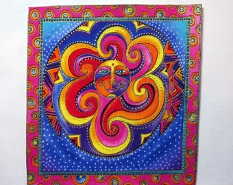 Celestial Dreams Applique*Handmade*Iron On*RARE Laurel Burch Fabric/192