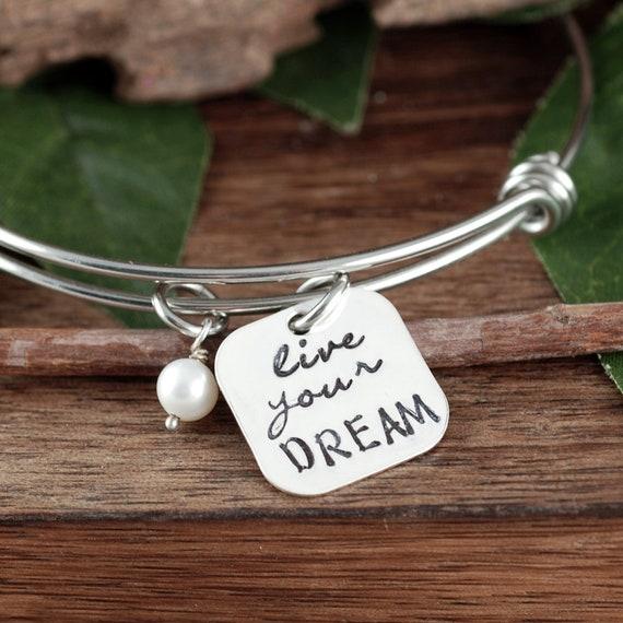 Live you Dream, 2018 Graduation Bracelet, Personalized Bracelet, Inspirational Gift, Class of 2018 High School, College Graduation Gift