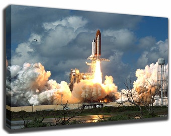 Space Shuttle Discovery Canvas/Poster Wall Art Pin Up HD Gallery Wrap Room Decor Home Decor Wall Decor