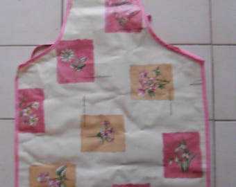 waxed canvas apron adult flower pattern