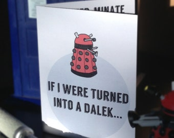 Doctor Who Love Card for Valentine's Day, Anniversary or Just Because
