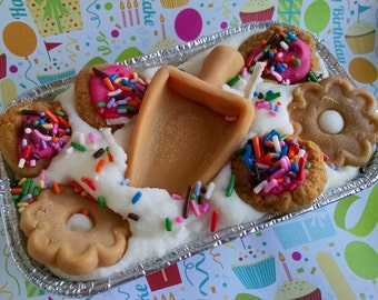 Zucker, Cookie, Kugel-Kerze, Laib Kerze, duftende Soja-Wachs, duftende Bäckerei, Dessert Kerze, einzigartige Geschenke, Cookie-Kerze, stark duftende