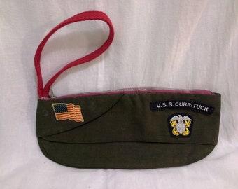 Military Garrison Cap Wristlet Purse Coin Purse