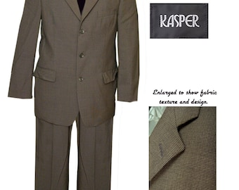 Oleg Cassini Dark Olive Green 3 Button Suit / Mad Men Suit / Mod Suit QW8Sg