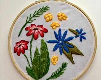 Floral Embroidered Hoop