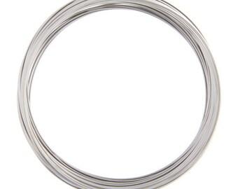 11.5cm nickel look memory wire 25 loops-5218