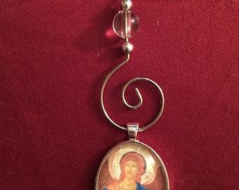 ST MICHAEL the Archangel, Icon, Christmas Ornament, Saints, Catholic, Religious gift, Angels, Byzantine, Orthodox, Ornament