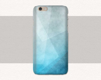 Blue Geometric Phone Case, iPhone 6 Case, 7 6s Plus 5, Samsung Galaxy S7, S6 S5, Edge, Note, Lg G5, LG G6, iPhone SE Blue, iPhone 7 Plus