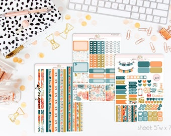 Tigerlily HORIZONTAL Weekly Kit // 130+ Matte Planner Stickers // Perfect for your Erin Condren Life Planner // WKH0250