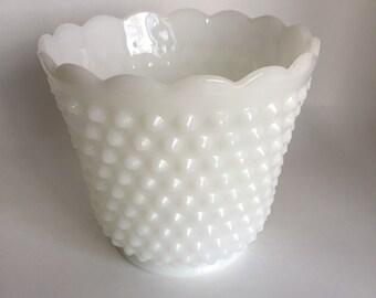 Fire King Vase Milk Glass plater,