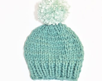 Green Baby Beanie // Adult Beanie // baby shower // baby winter clothes // baby handmade knits // toddler beanie