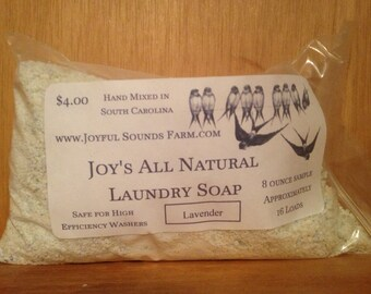 Joy's All Natural Laundry Soap Sample Size