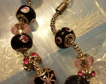 Handcrafted pink style  bracelet