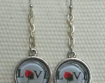 Love Rose Earrings Handmade in Brooklyn